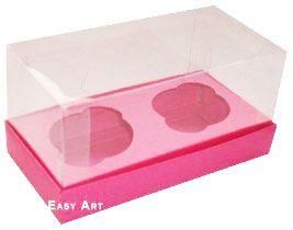 Caixas para 2 Mini Cupcakes - Pink