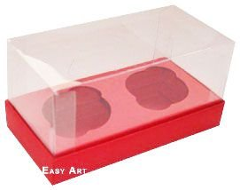 Caixas para 2 Mini Cupcakes - Vermelho