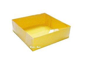 Caixas para 4 brigadeiros - Amarelo