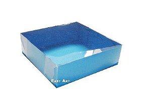 Caixas para 4 brigadeiros - Azul Turquesa