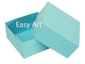 Caixa para 4 Brigadeiros - Azul Tiffany