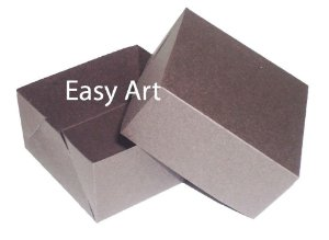 Caixa para 4 Brigadeiros - Marrom Chocolate