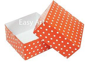 Caixa para 4 Brigadeiros - Vermelho com Poás Brancas