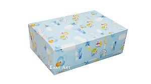 Caixas para 6 Brigadeiros - Estampado Bebê Azul