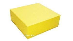 Caixas para 9 Brigadeiros - Amarelo