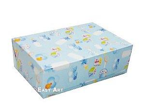Caixas para 12 Brigadeiros - Estampado Bebê Azul