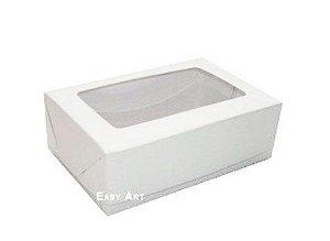 Caixa para 6 Brigadeiros 12x8x3,7 - Branco