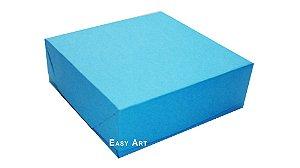 Caixas para 16 Brigadeiros - Azul Turquesa