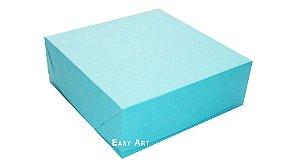 Caixas para 16 Brigadeiros - Azul Tiffany