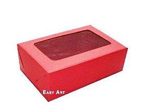 Caixa para 6 Brigadeiros - Vermelho