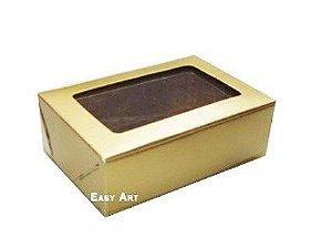 Caixa para 6 Brigadeiros - Dourado