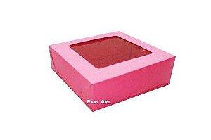 Caixa para 9 Brigadeiros - Pink