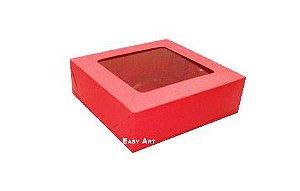 Caixa para 9 Brigadeiros - Vermelho