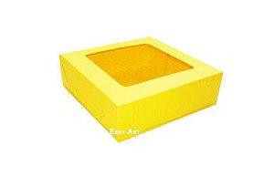 Caixa para 9 Brigadeiros - Amarelo