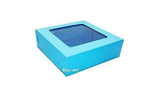 Caixa para 9 Brigadeiros - Azul Turquesa
