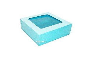 Caixa para 9 Brigadeiros - Azul Tiffany