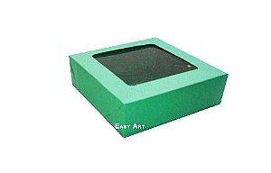 Caixa para 9 Brigadeiros - Verde Bandeira