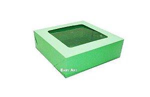 Caixa para 9 Brigadeiros - Verde Pistache