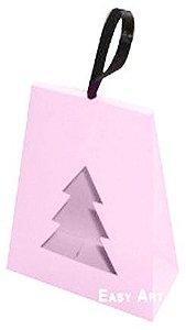 Caixa Árvore de Natal - Rosa Claro