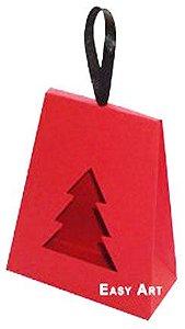 Caixa Árvore de Natal - Vermelho