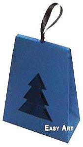 Caixa Árvore de Natal - Azul Marinho