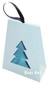 Caixa Árvore de Natal - Azul Claro
