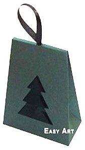 Caixa Árvore de Natal - Verde Musgo