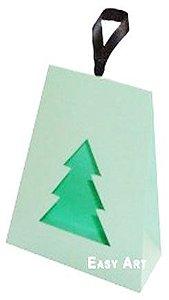 Caixa Árvore de Natal - Verde Claro