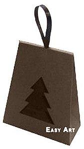 Caixa Árvore de Natal - Marrom Chocolate