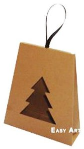 Caixa Árvore de Natal - Marrom Claro