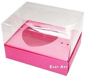 Caixa coração de Colher / 100g - Pink - Pct com 10 Unidades