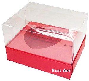 Caixa Coração de Colher / 100g - Vermelho - Pct com 10 Unidades
