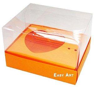 Caixa Coração de Colher / 100g - Laranja - Pct com 10 Unidades