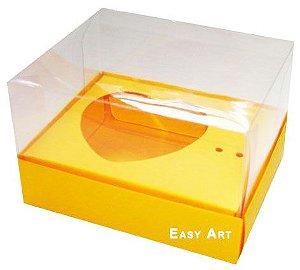 Caixa Coração de Colher / 100g - Laranja Claro - Pct com 10 Unidades