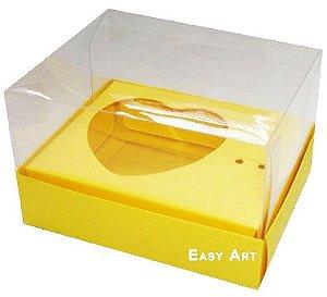 Caixa Coração de Colher / 100g - Amarelo - Pct com 10 Unidades
