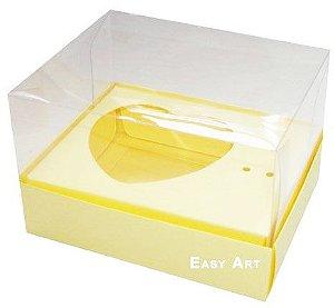 Caixa Coração de Colher 100g / - Marfim - Pct com 10 Unidades