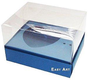 Caixa Coração de Colher / 100g - Azul Marinho - Pct com 10 Unidades