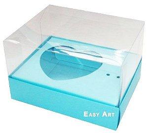Caixa Coração de Colher / 100g - Azul Tiffany - Pct com 10 Unidades