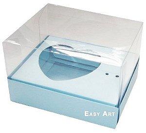 Caixa Coração de Colher / 100g - Azul Claro - Pct com 10 Unidades