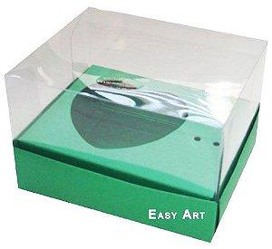 Caixa Coração de Colher / 100g - Verde Bandeira - Pct com 10 Unidades