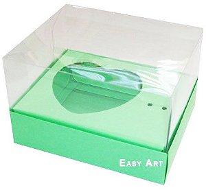 Caixa Coração de Colher / 100g - Verde Pistache - Pct com 10 Unidades