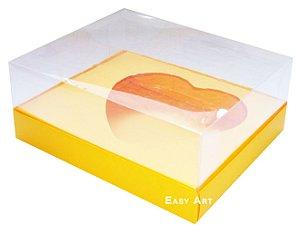 Caixa Coração de Colher / 250g - Laranja Claro - Pct com 10 Unidades