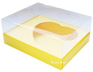 Caixa Coração de Colher / 250g - Amarelo - Pct com 10 Unidades
