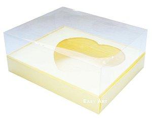 Caixa Coração de Colher / 250g - Marfim - Pct com 10 Unidades