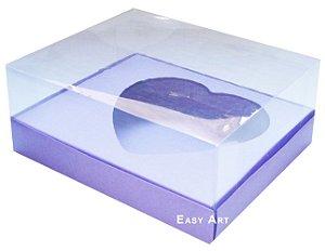 Caixa Coração de Colher 250g - Lilás Pct com 10 Unidades
