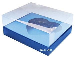 Caixa Coração de Colher / 250g - Azul Marinho - Pct com 10 Unidades