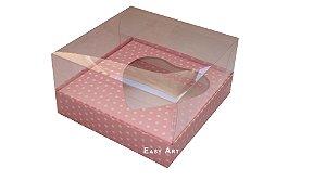 Caixa Coração de Colher / 250g - Rosa Poa Branca