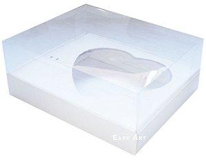 Caixa Coração de Colher / 500g - Branco - Pct com 10 Unidades