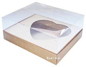 Caixa Coração de Colher / 500g - Kraft - Pct com 10 Unidades