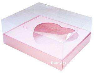 Caixa coração de Colher / 500g - Salmão - Pct com 10 Unidades